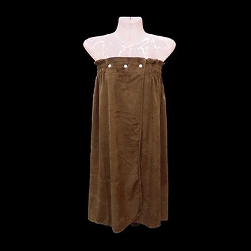 超柔開胸浴裙 (啪鈕款)