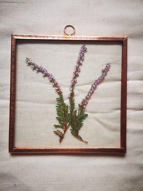 Copper Frame with Purple Heather