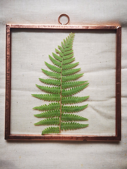 Handmade Copper Frame with Fern