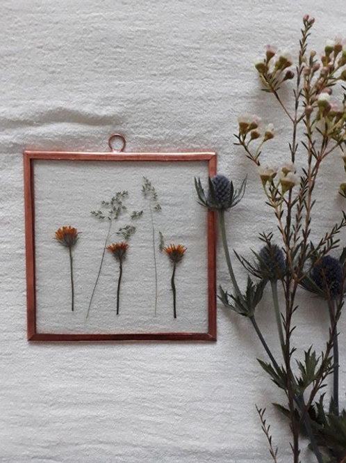 Frame with wild flowers