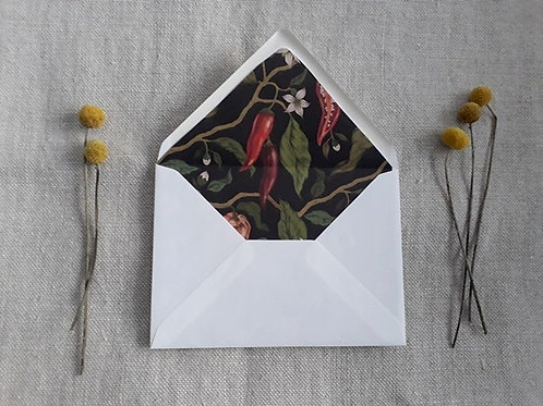 Envelope with liner