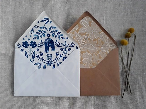 Envelopes with liners