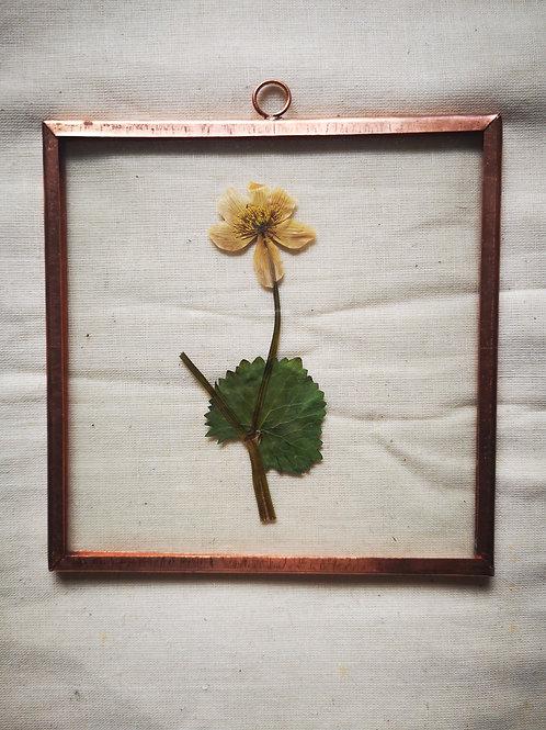 Copper frame - Yellow Flower