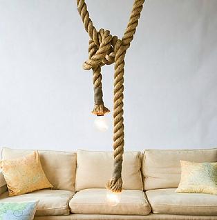 Hemp Rope Light Pendant-Single Head