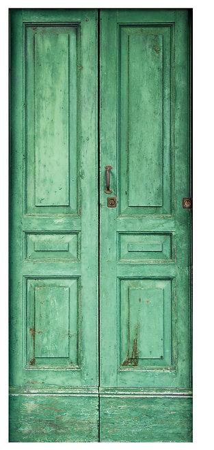 Antique Style Door Sticker
