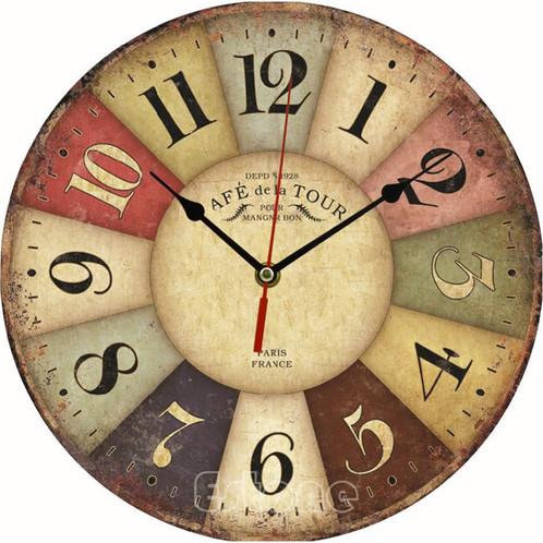 Wall Clock Vintage/Retro Style | Pront Decor