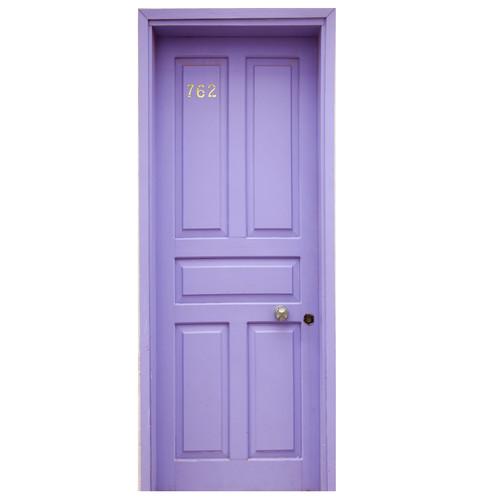 Purple Wooden Door Sticker
