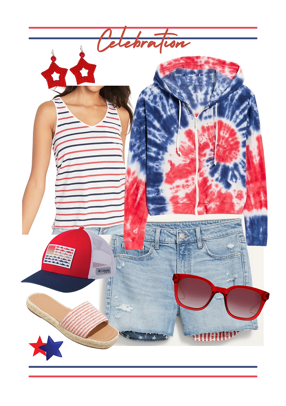Fourth of July outfit. red white and blue outfit. Patriotic outfit. #holidayOOTD #4thofjulybbq