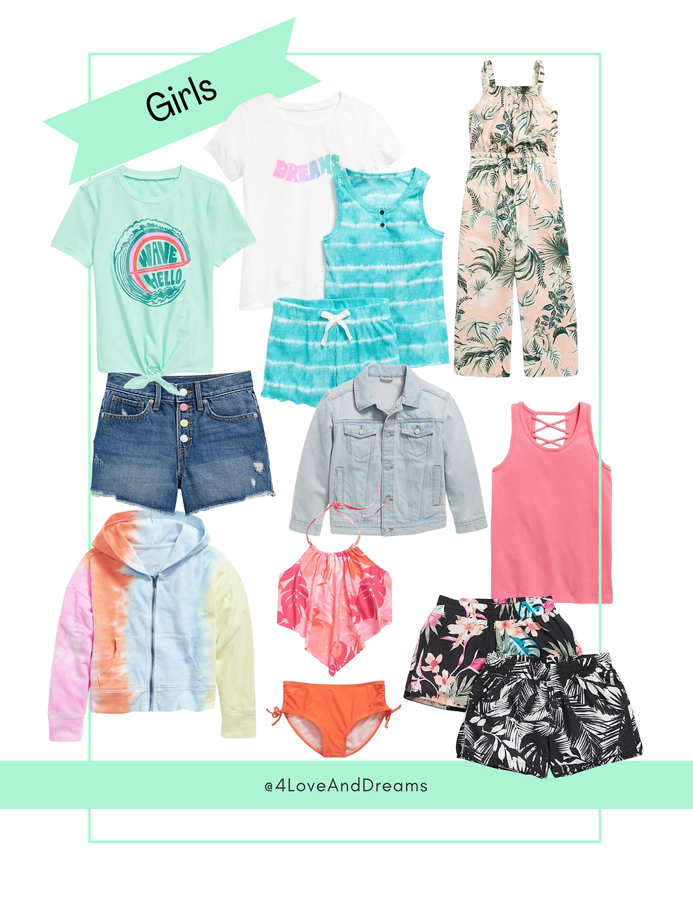 girls vacation outfits.  family vacation, summer looks. old navy fashion. girls fashion. swimsuits for girls.