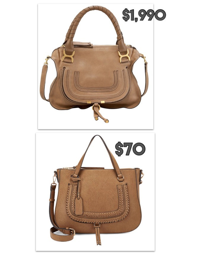 Chloe bag dupe. designer inspired . splurge vs steal