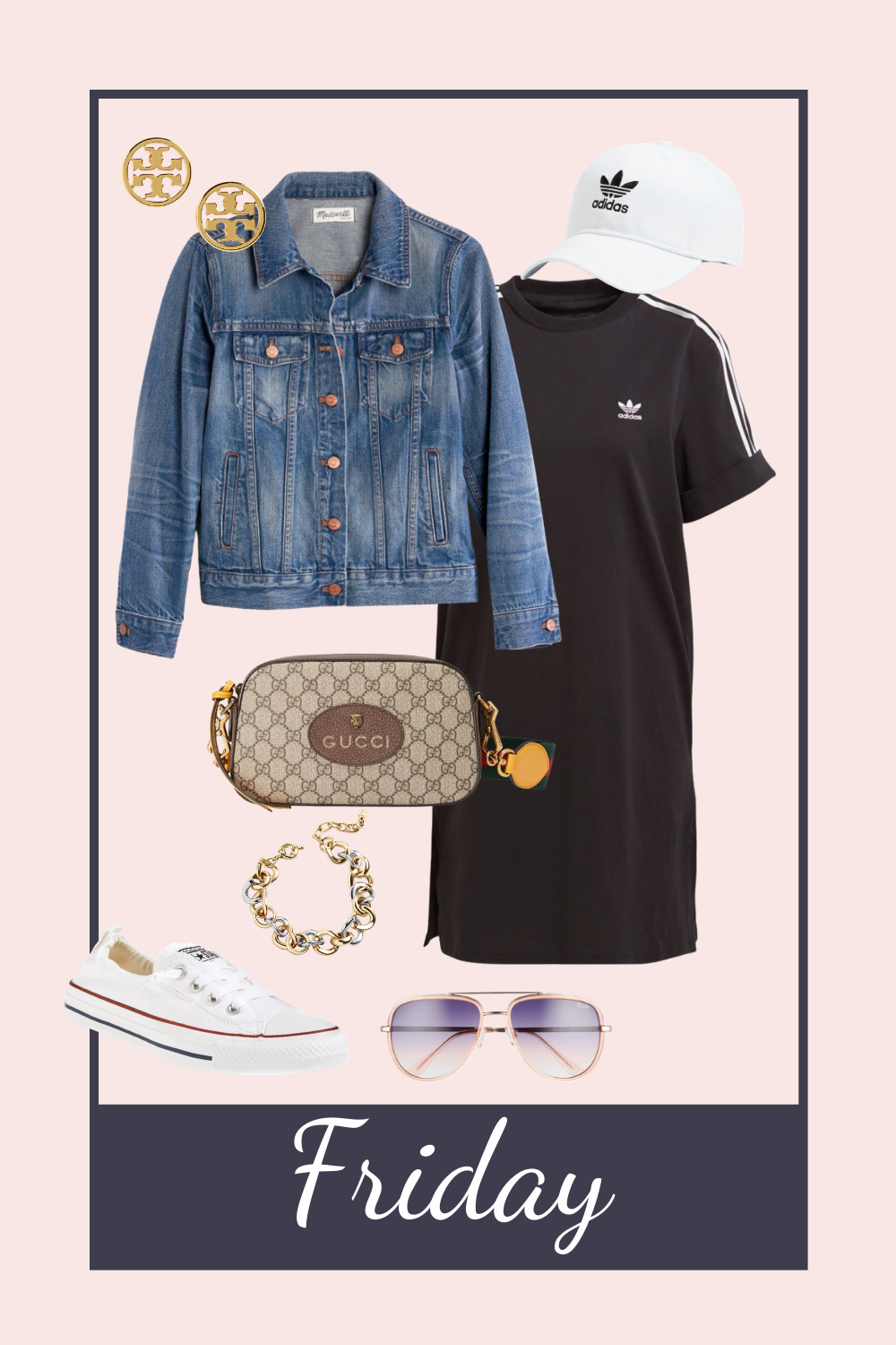 friday casual look. lunch with friends outfit. denim jacket outfit. splurge vs save. fit mom