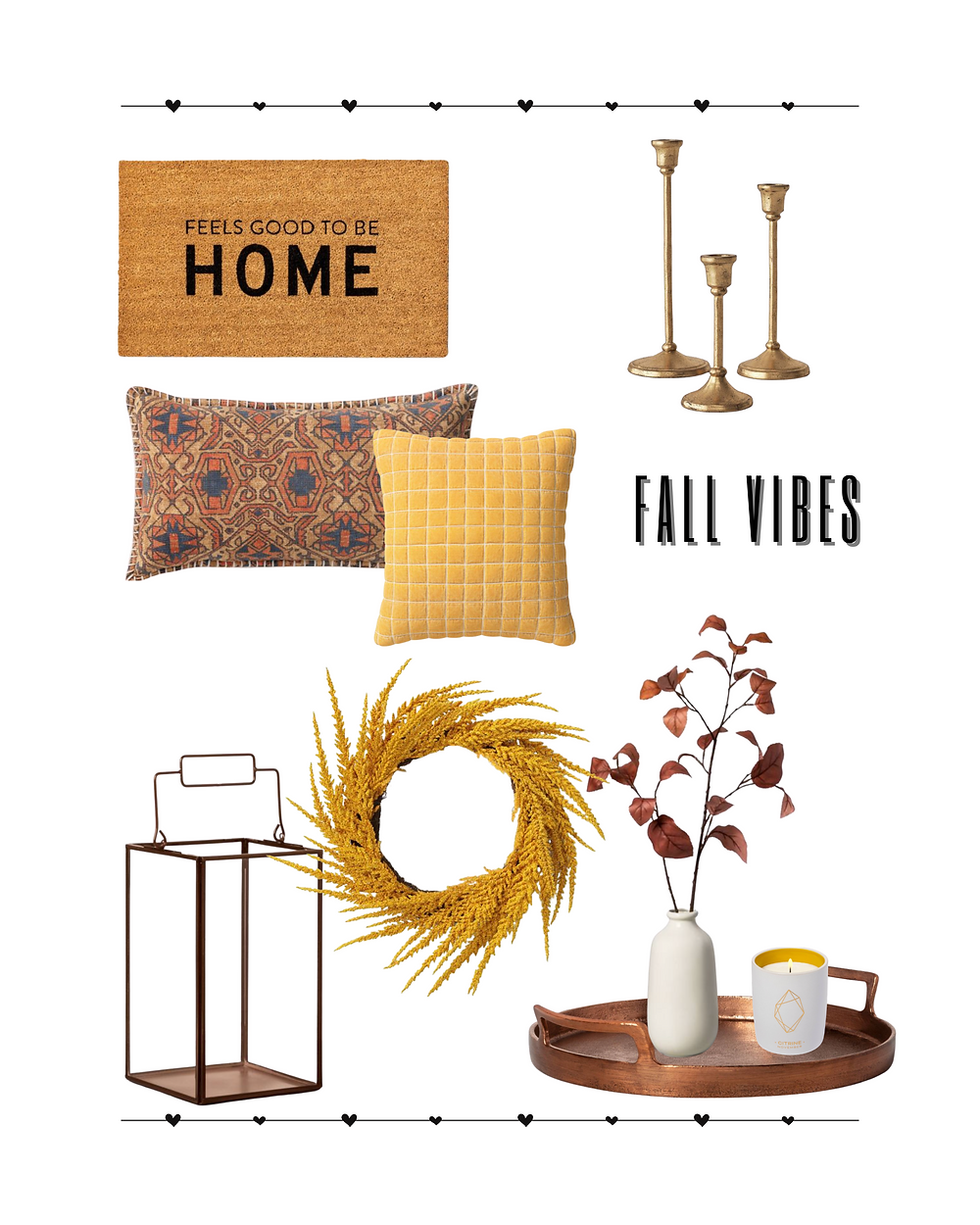 fall decor. brass decor. home decor. fall vibes. target. target decor