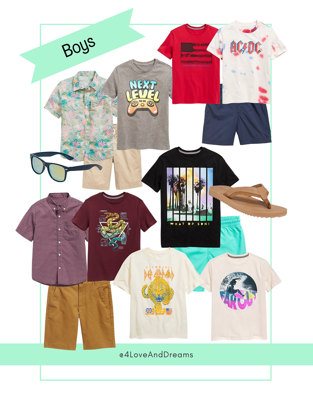 boys of summer.  summer outfits for the family.  vacation outfits for the family