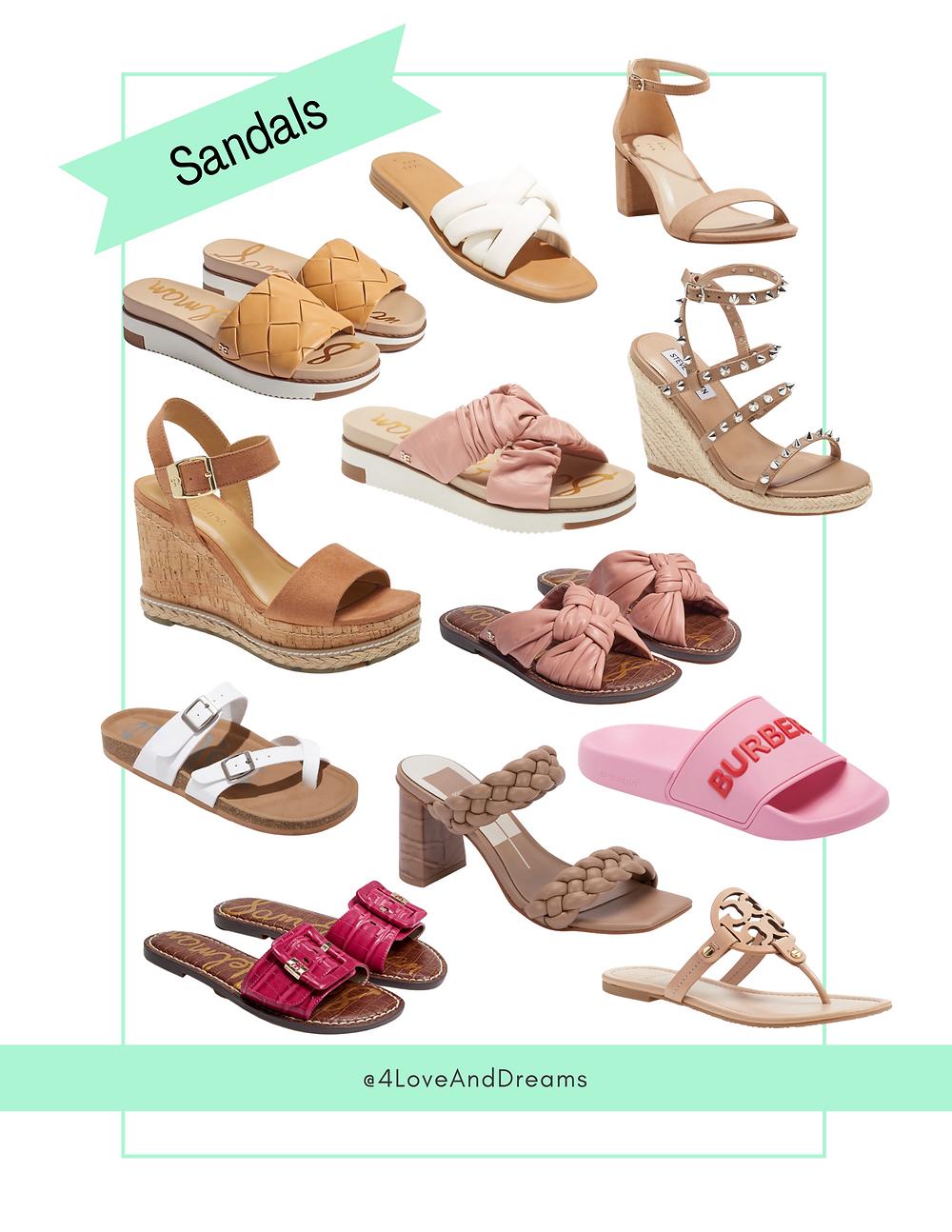 summer sandals. date night sandals. beach sandals. vacation sandals.