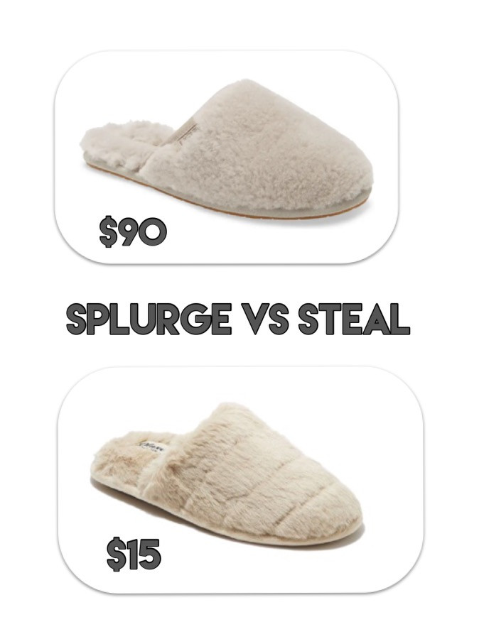 ugg slippers. target style. target finds. dupe. splurge vs steal. slippers.