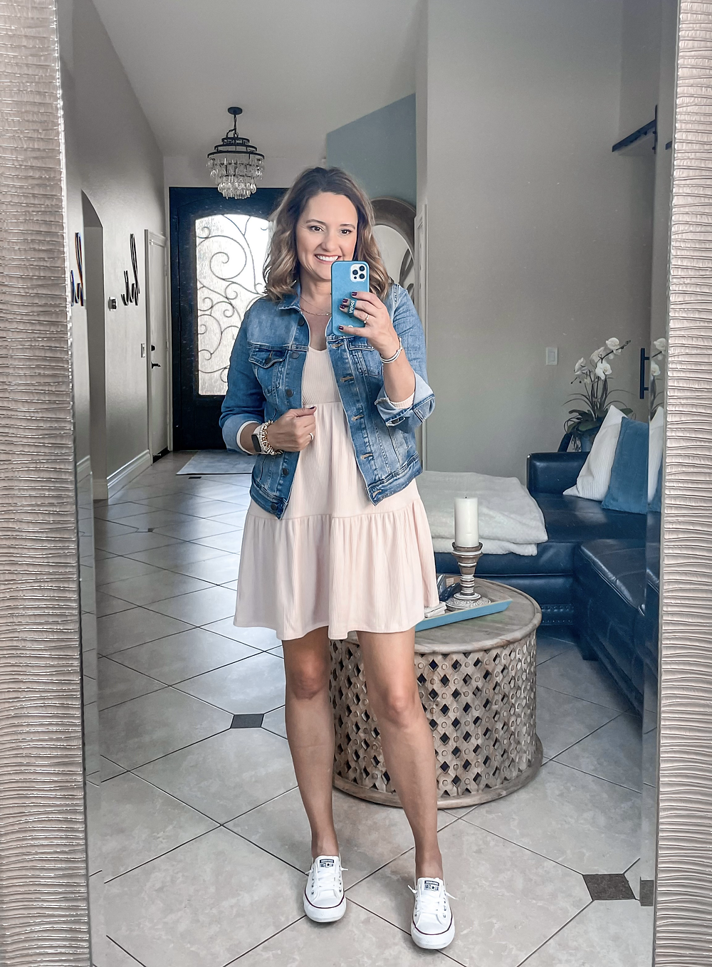 target spring haul. try on. spring fashion trends. denim jacket.  staple pieces for spring
