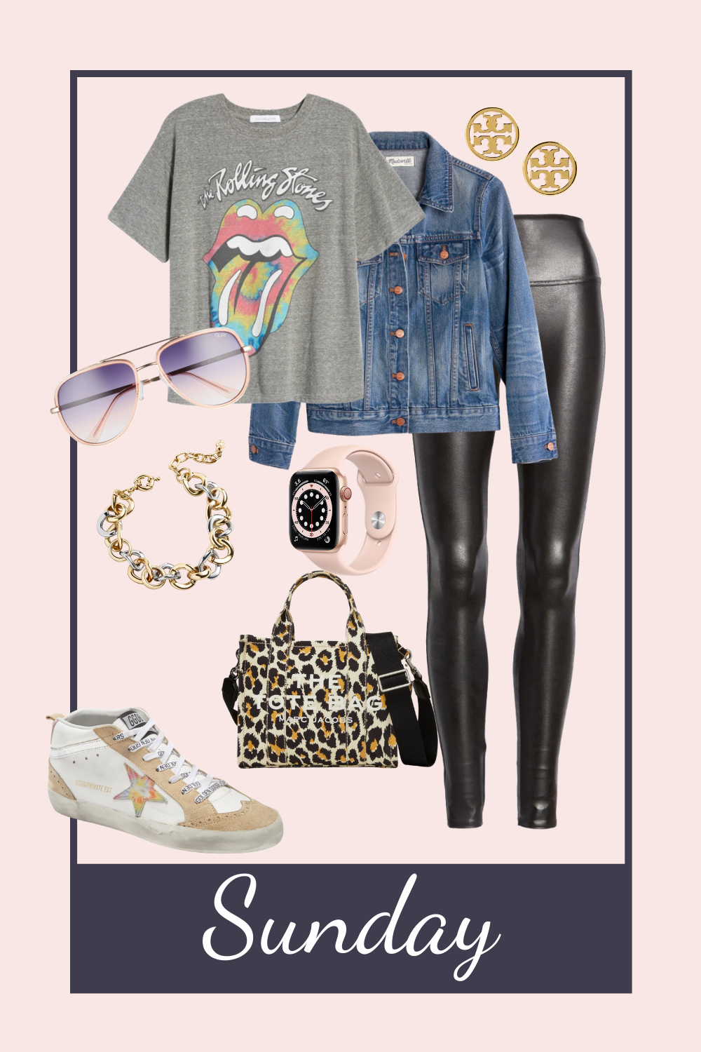 Sunday funday outfit. casual basic look. how to style leggings. graphic tee and leggings. mom uniform. lazy Sunday outfits. casual Sunday outfit idea. how to style Spanx faux leather leggings
