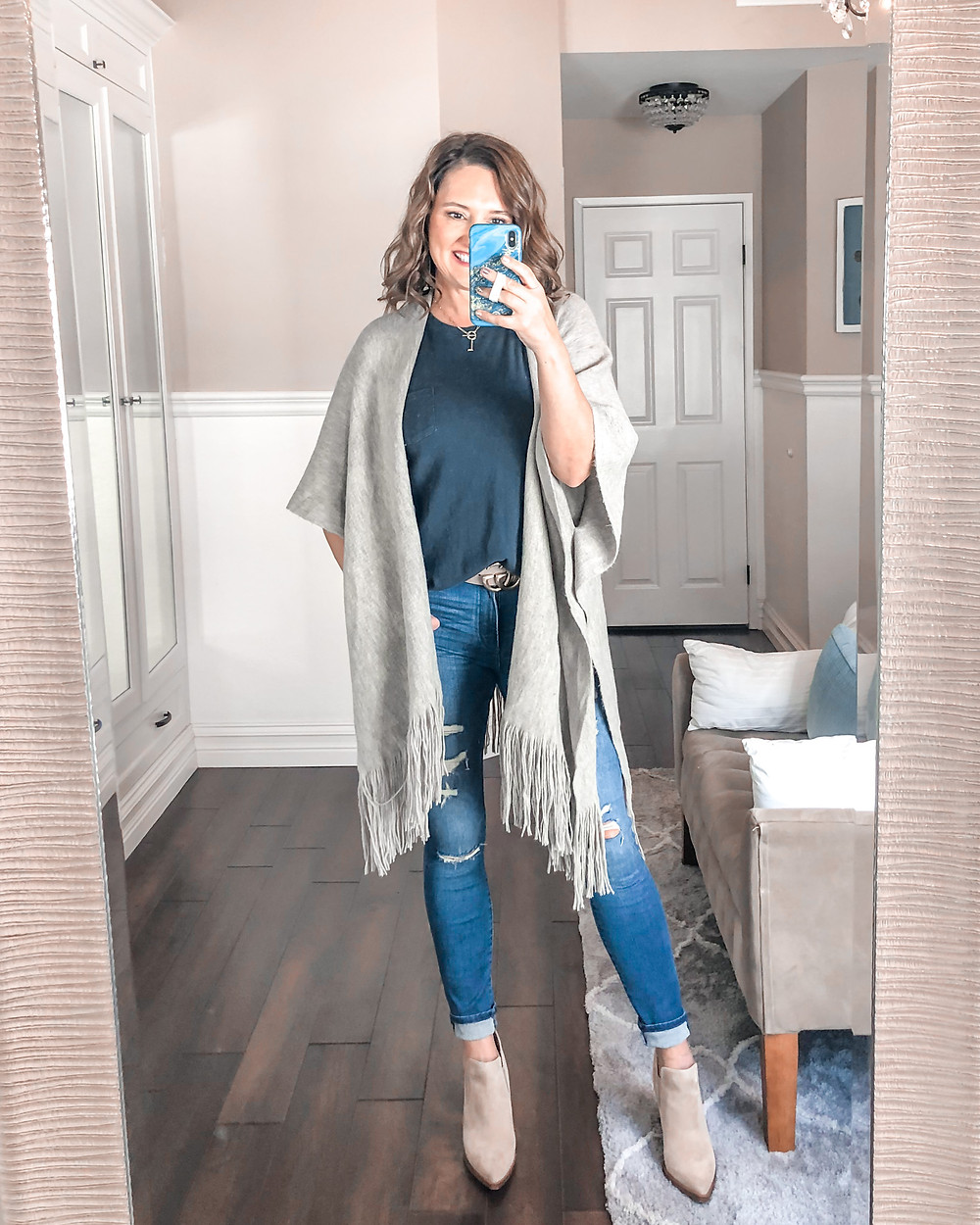 poncho. target takes all my money. teacher outfit