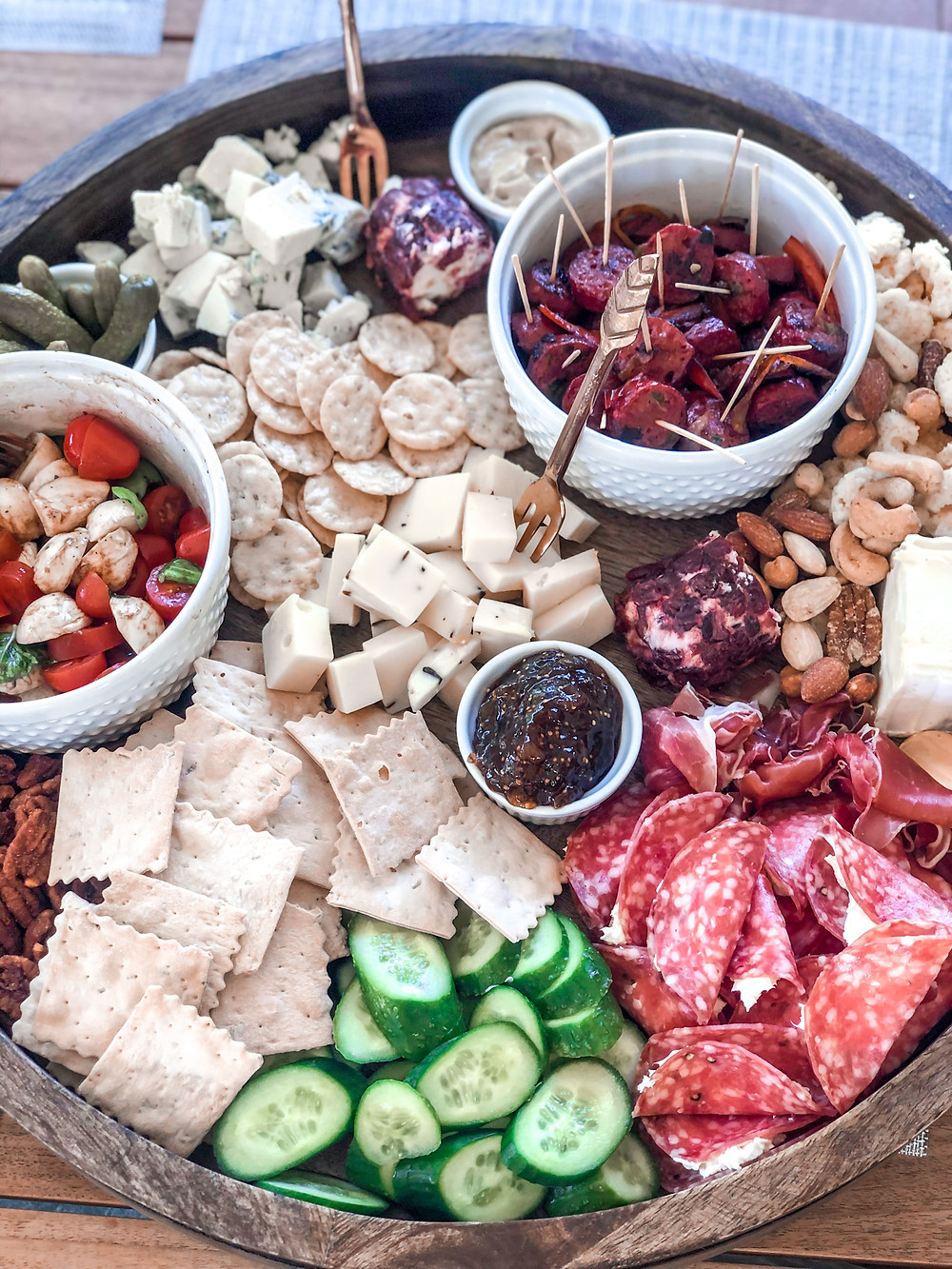 cheese board, charcuterie, wine and cheese