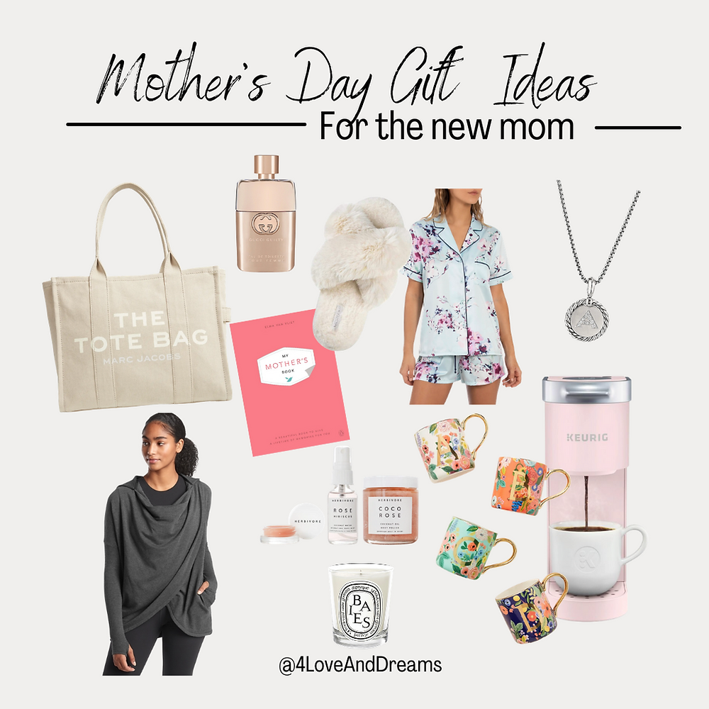mother's day gift ideas. new mom gifts. mothers day gifts. gift guide. what to get a new mom.