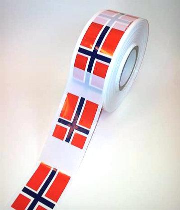 Sperrebånd, norske flagg 250m X 75mm