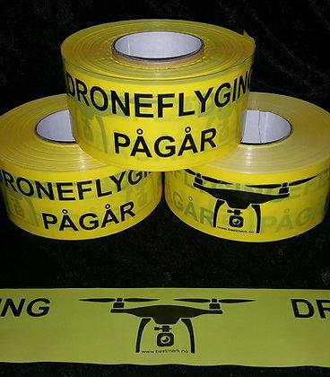 sperrebånd, droneflyging pågår