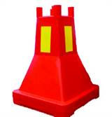 Plastbukk, for plank, rød m refleks