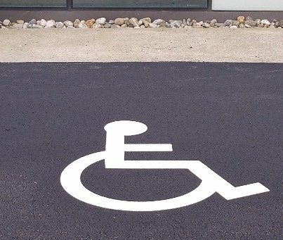 Handicap symbol  hvit, 1200x1000mm, 5 stk i pakke