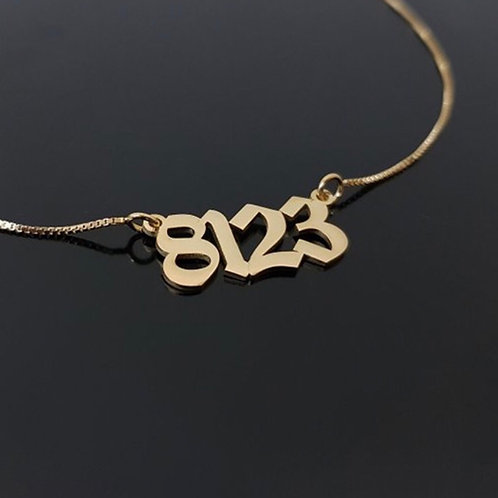 Number plated necklace