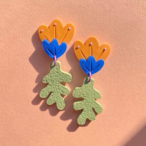 Preorder: Poppy - Milky Orange/Blue