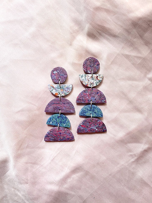 Eclipse Maxi - Mixed Pink Feldspar Turquoise