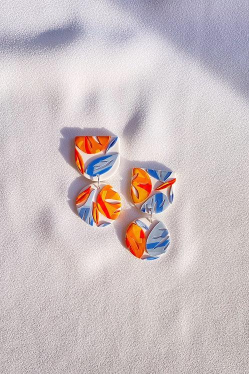 Orange on Blue Kirie - Mini Maya