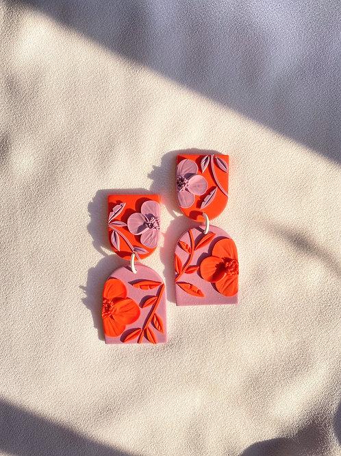 Magenta/ Orange Poppies - Allegro
