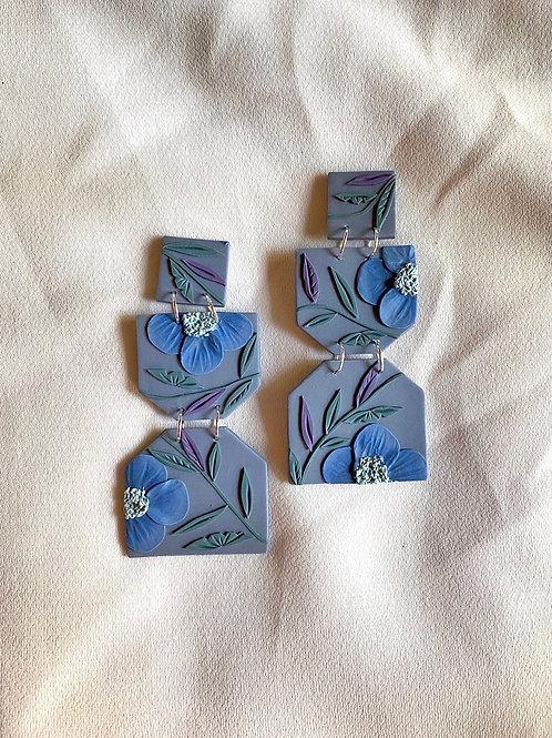 Blue Dusk Blooms - Odette