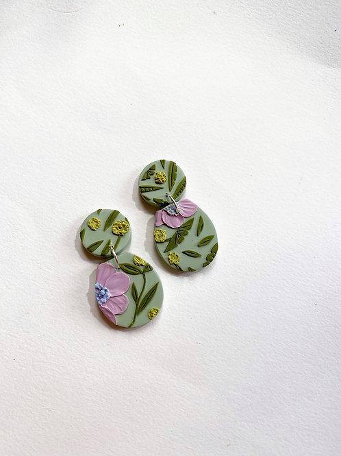 Lavender Poppies - Dolce (Clay studs)
