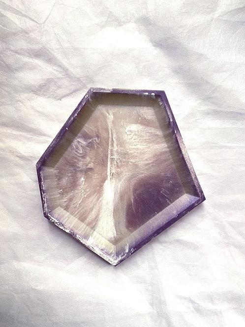 Trinket Tray - Violet marble