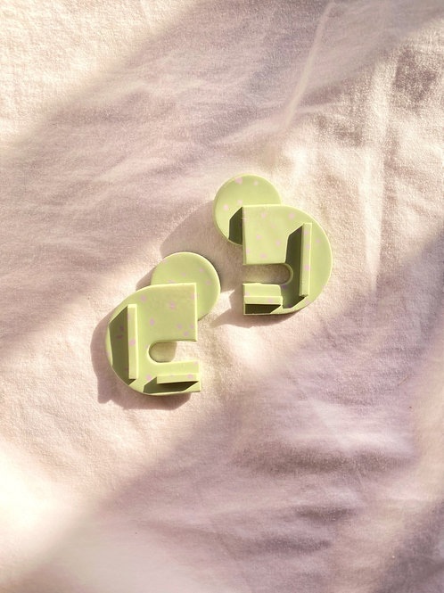 Bauhaus series - Berlin: Pastel Lime Speckle