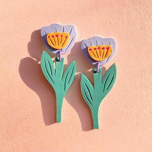 Preorder: Tulips - Milky Orange/Powder Blue