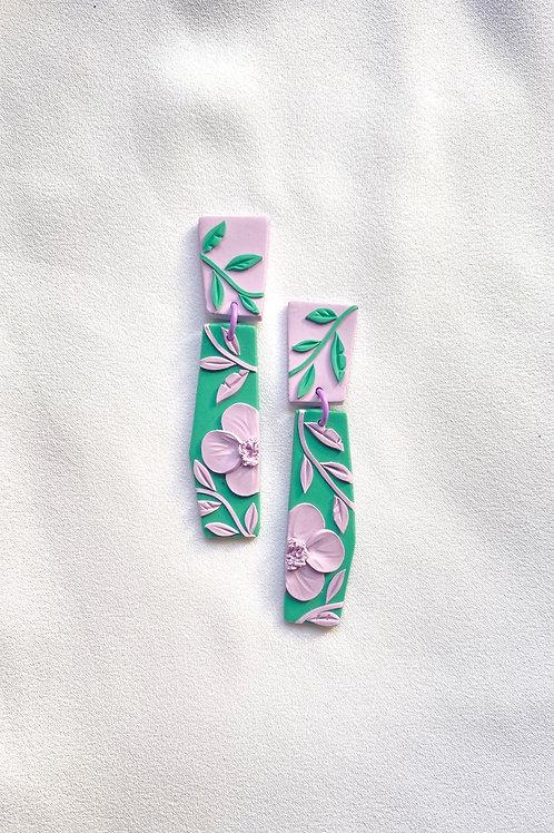 Lavender/ Green Poppies - Dali