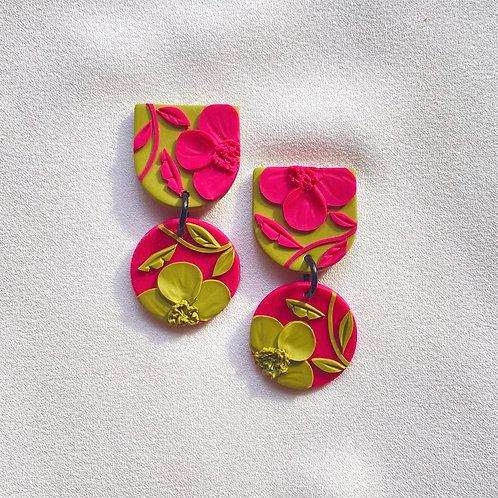 Fuchsia/ Kiwi Poppies - Mini Maya