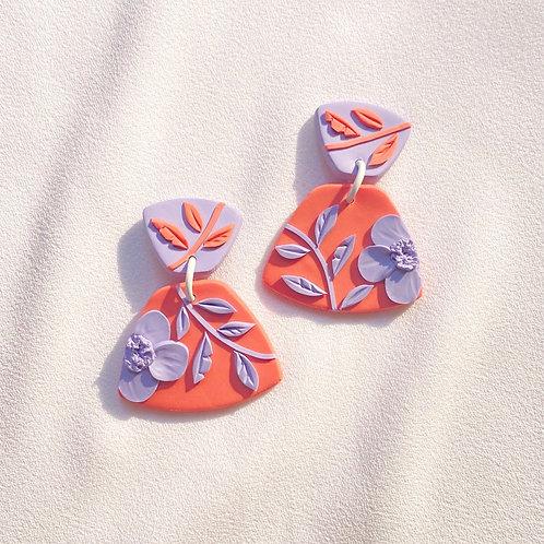 Peach/Lavender Poppies - Midi Leia