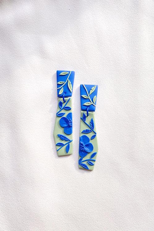 Blue/ Sage Poppies - Dali