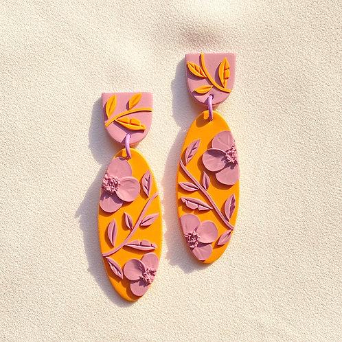 Orange/Lilac Poppies - Arya