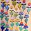 Thumbnail: Drooping Daisies - Powder Blue
