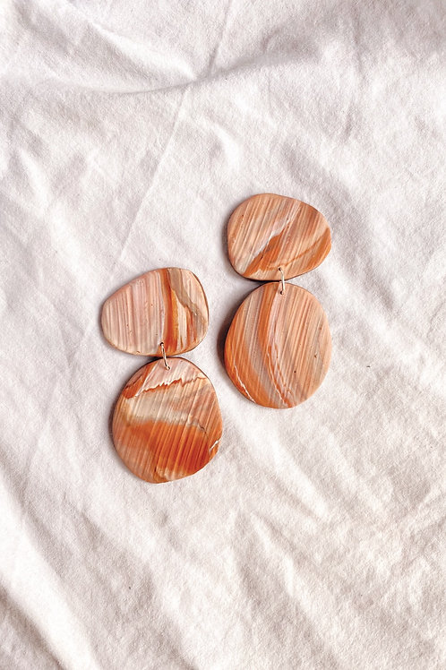 Pebble dangles - Terracotta marble