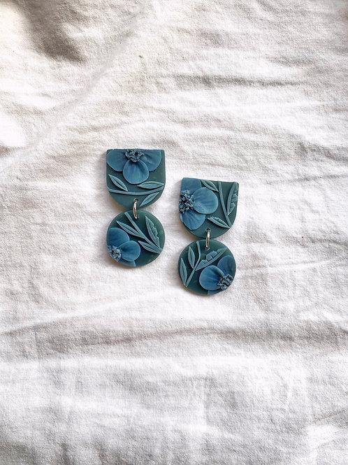 Dark Jade Poppies - Mini Maya