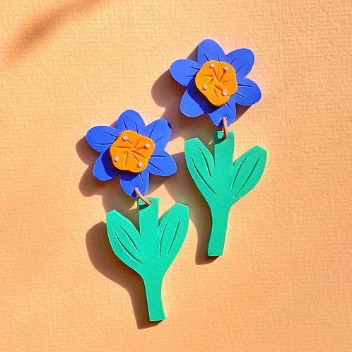 Sunflower - Milky Orange/ Royal Blue