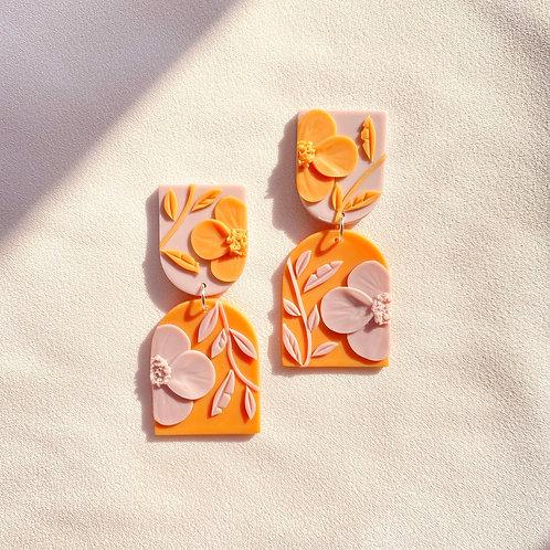 Lilac/Orange Poppies - Allegro