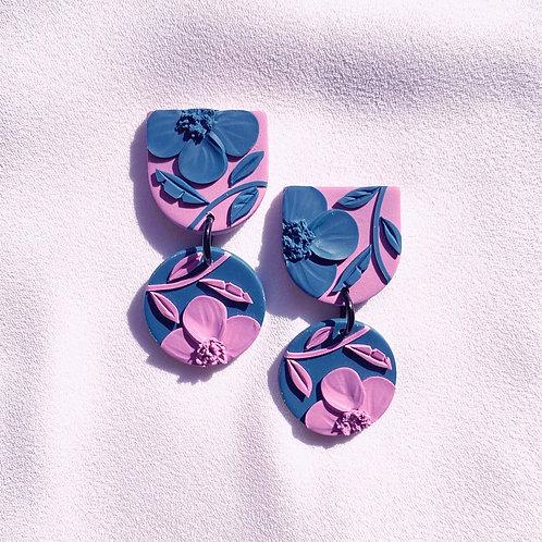 Magenta/ Teal  Poppies - Mini Maya