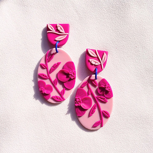 Pink on pink Poppies - Miro